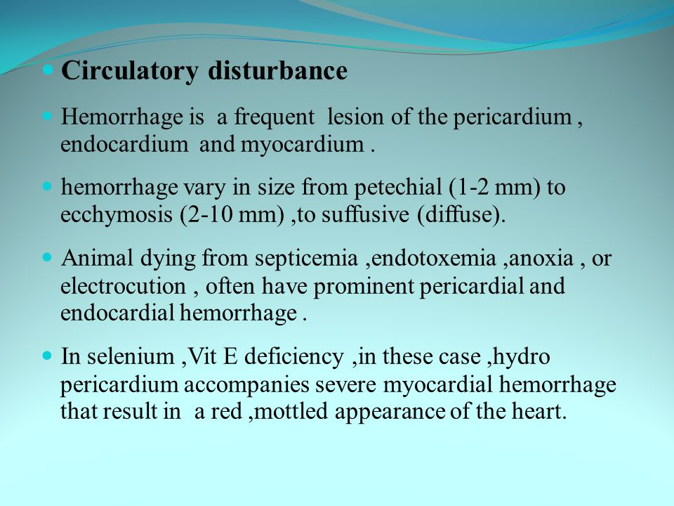 Circulatory disturbance
