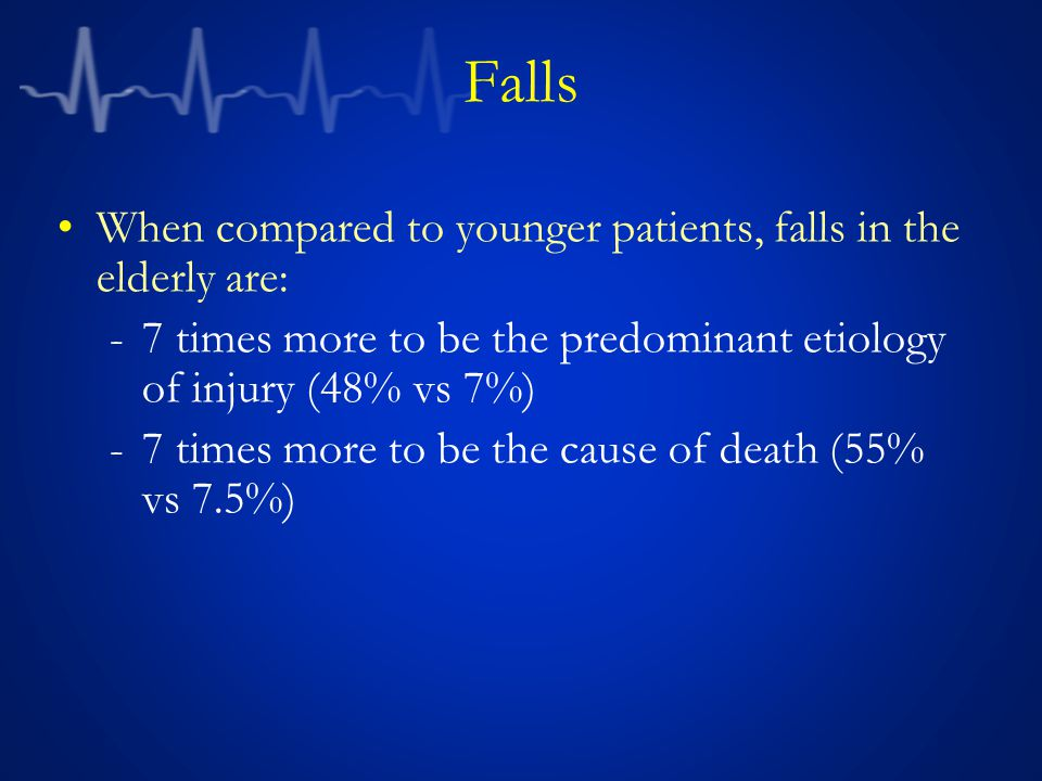 Falls When compared to younger patients, falls in the elderly are: