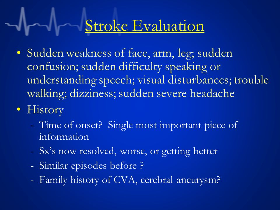 Stroke Evaluation