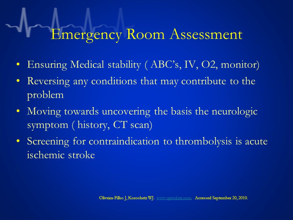 Emergency Room Assessment