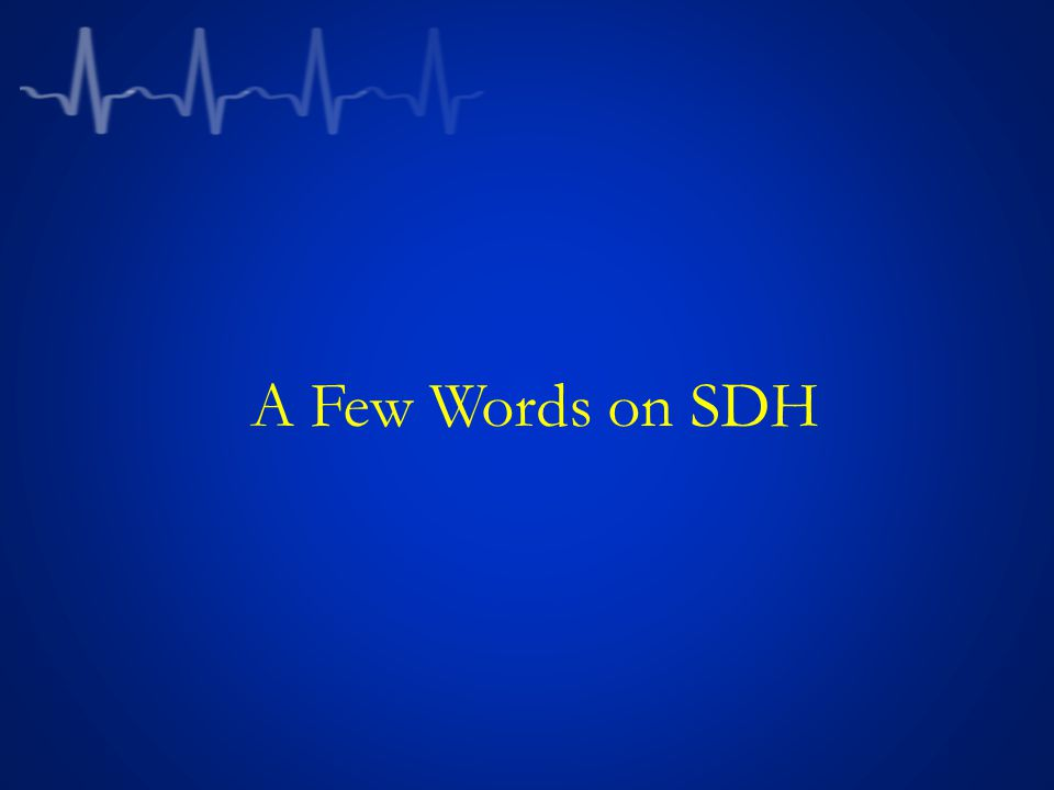 A Few Words on SDH