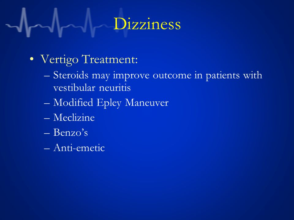 Dizziness Vertigo Treatment: