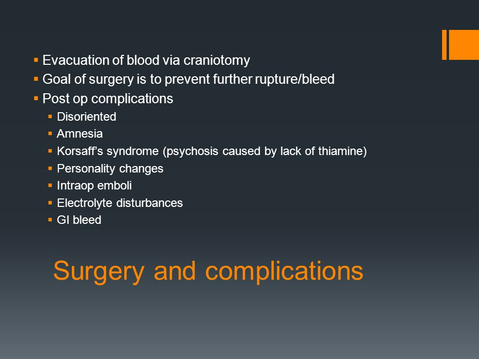 Surgery and complications