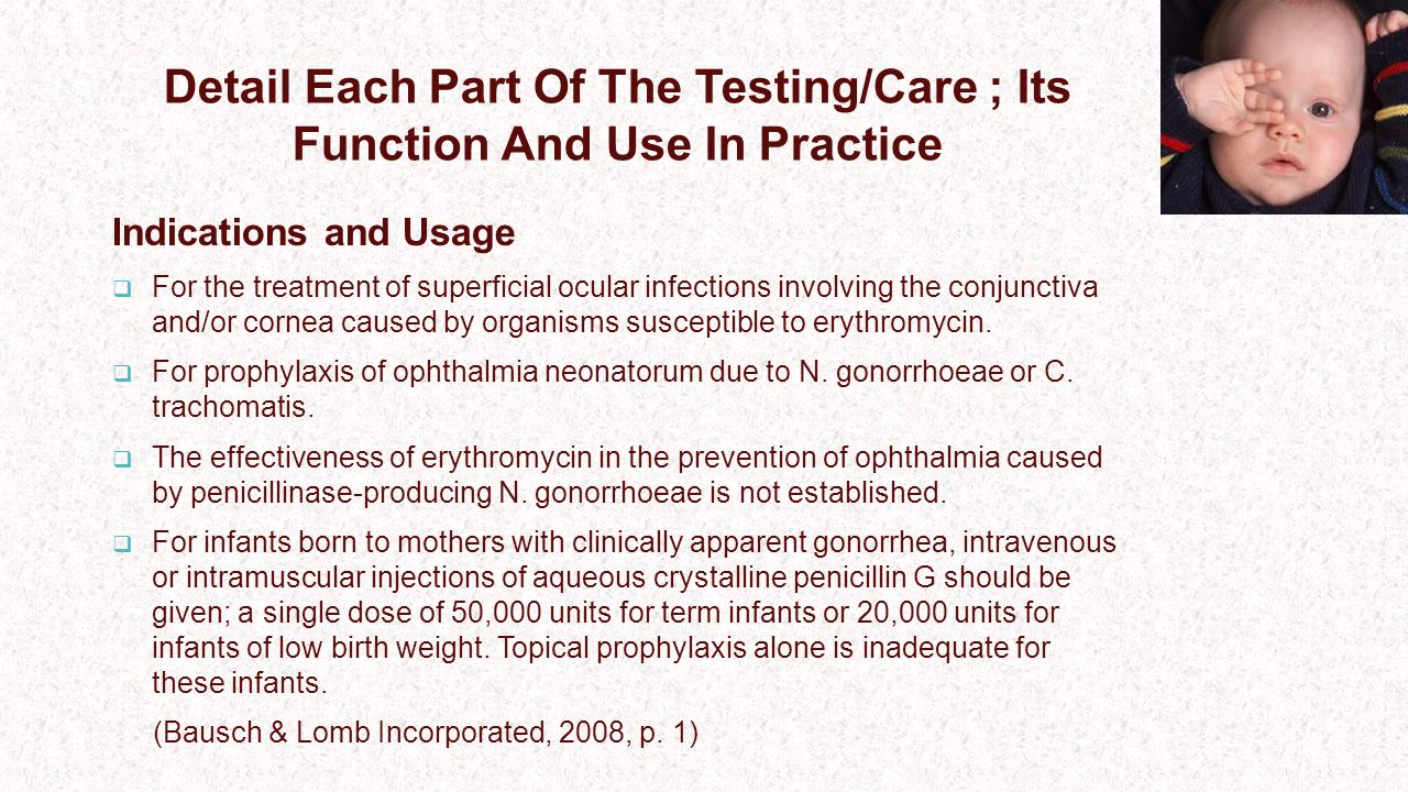 Detail Each Part Of The Testing/Care ; Its Function And Use In Practice