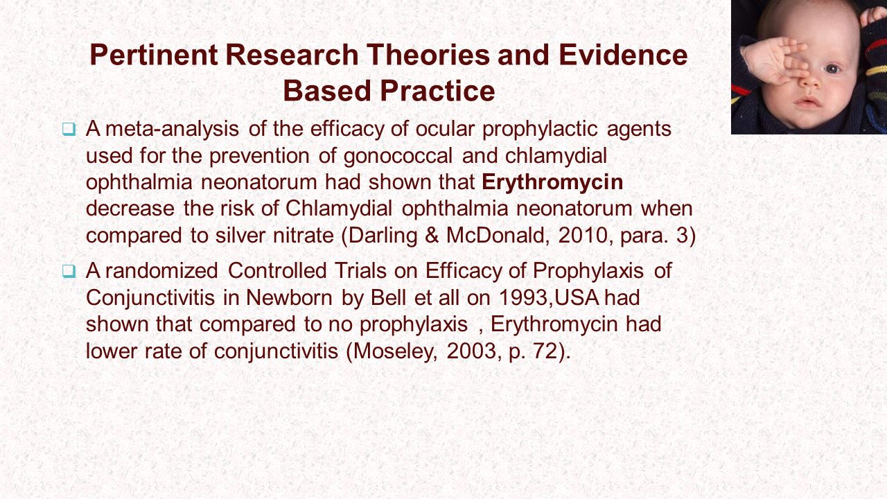 Pertinent Research Theories and Evidence Based Practice