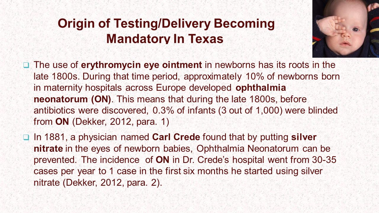 Origin of Testing/Delivery Becoming Mandatory In Texas