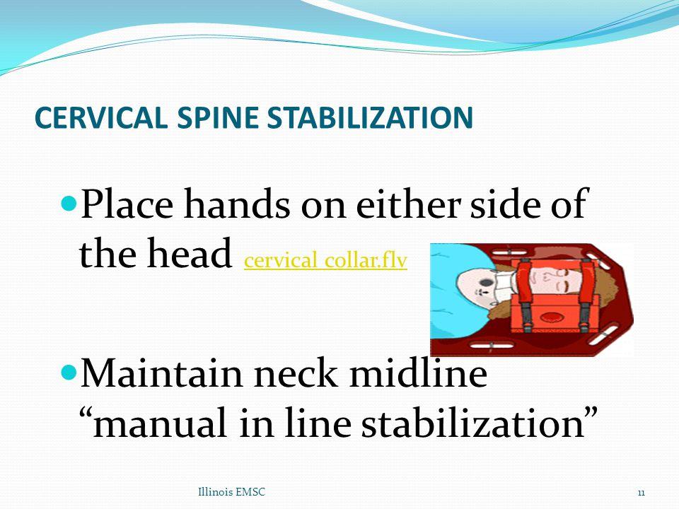 CERVICAL SPINE STABILIZATION