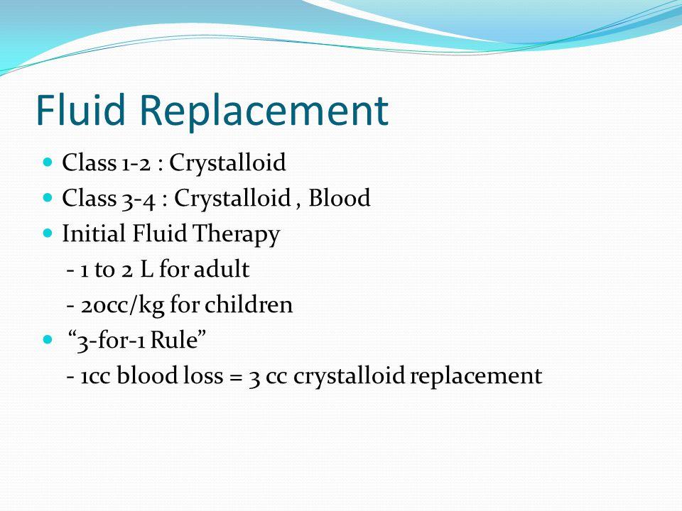 Fluid Replacement Class 1-2 : Crystalloid
