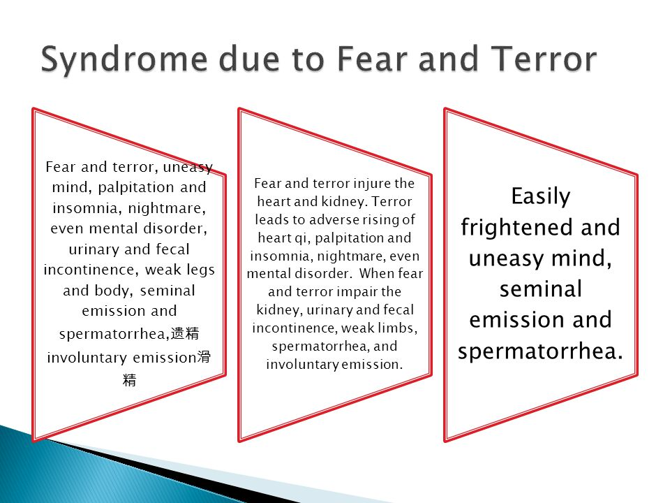 Syndrome due to Fear and Terror