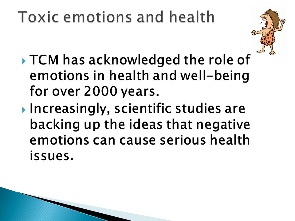 Toxic emotions and health