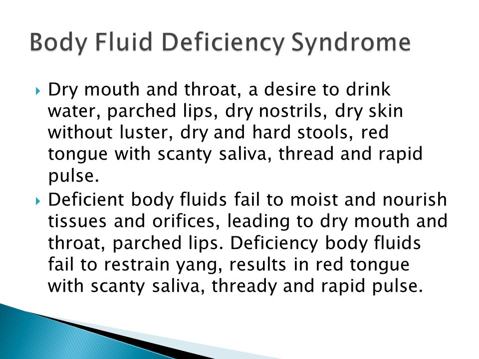 Body Fluid Deficiency Syndrome