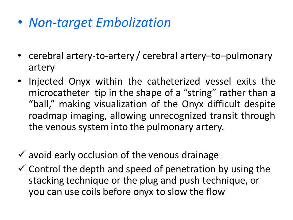 Non-target Embolization