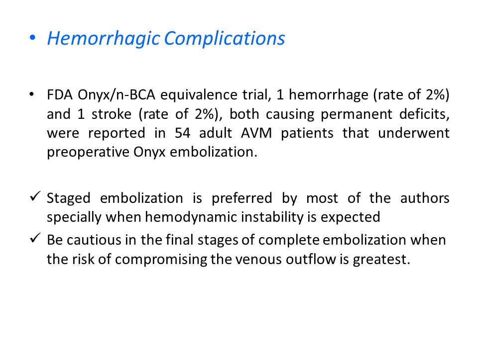 Hemorrhagic Complications