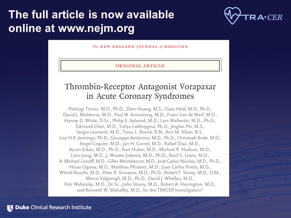 The full article is now available online at www.nejm.org