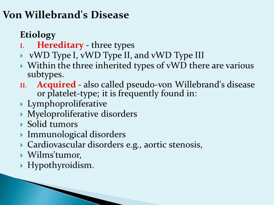 Von Willebrand s Disease