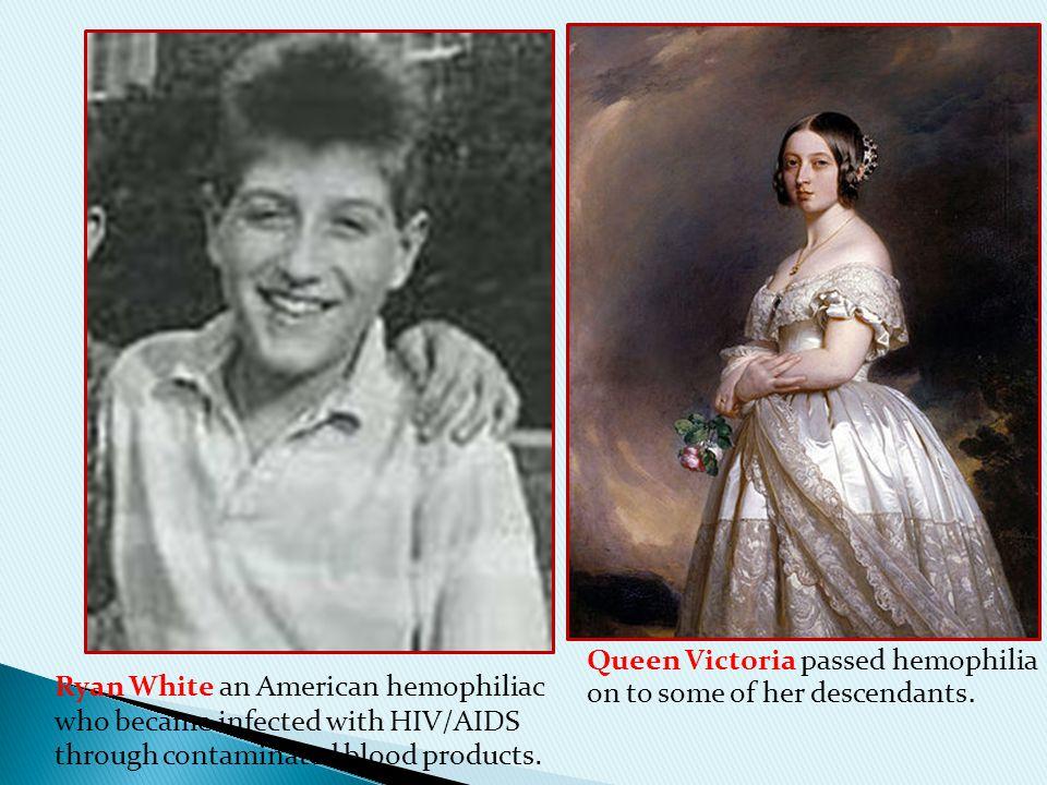 Queen Victoria passed hemophilia on to some of her descendants.