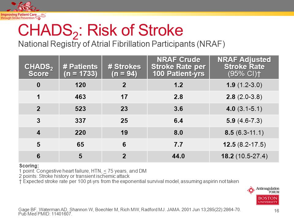 NRAF Crude Stroke Rate per 100 Patient-yrs