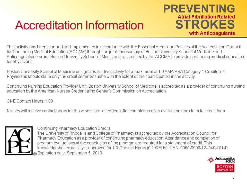 Accreditation Information