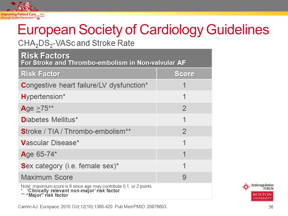 European Society of Cardiology Guidelines