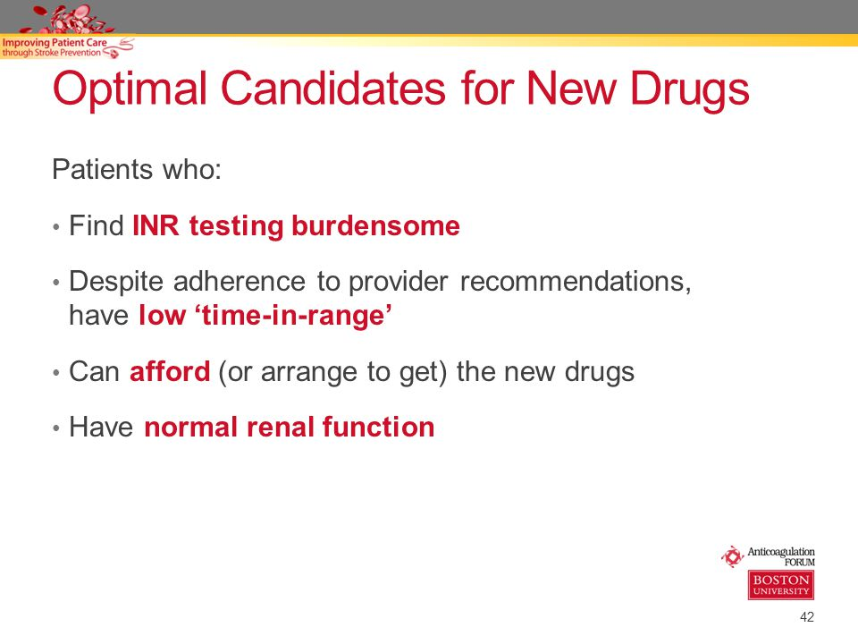 Optimal Candidates for New Drugs
