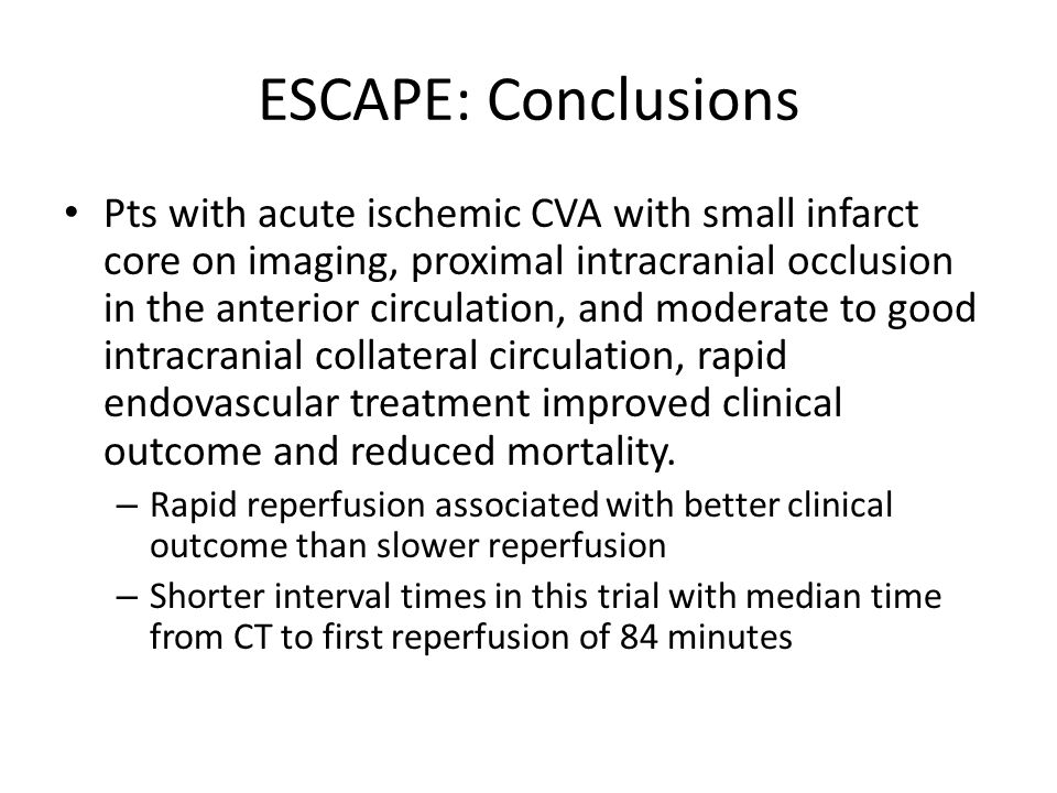 ESCAPE: Conclusions