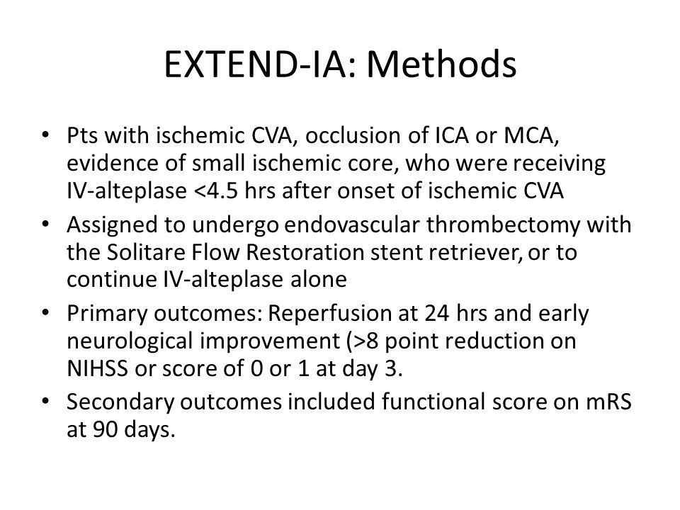 EXTEND-IA: Methods