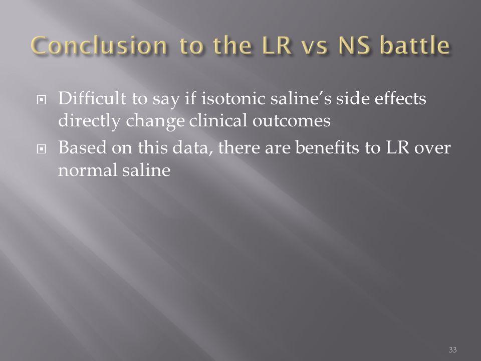 Conclusion to the LR vs NS battle