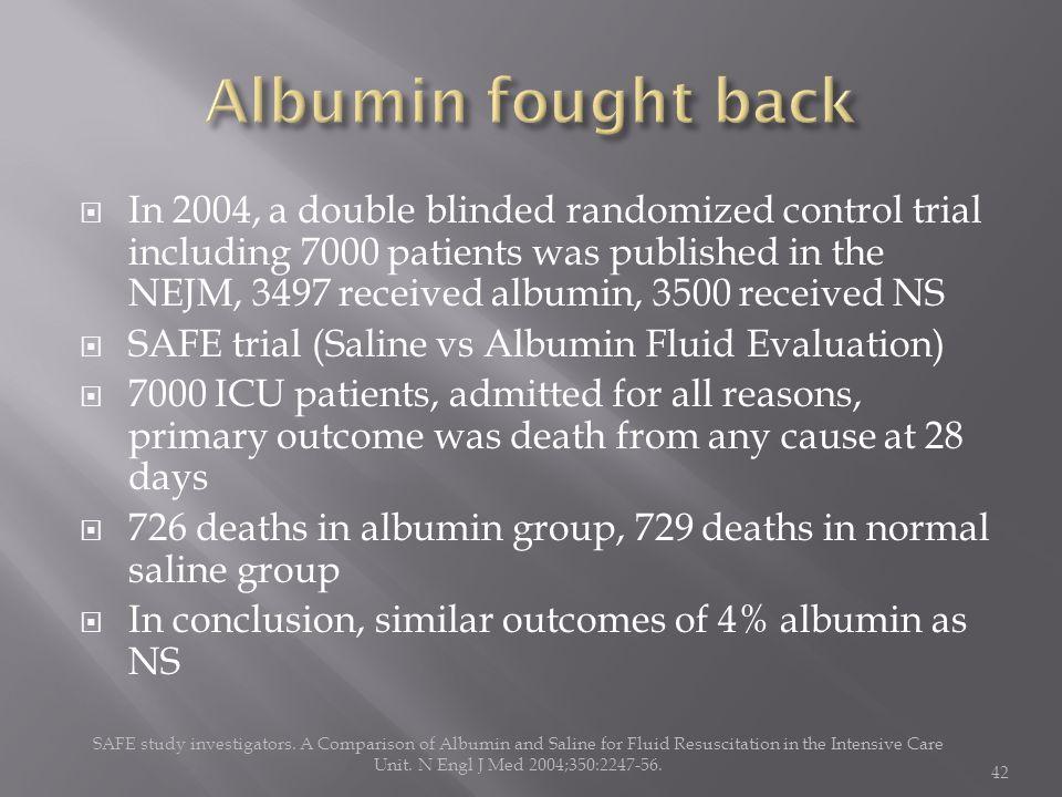 Albumin fought back