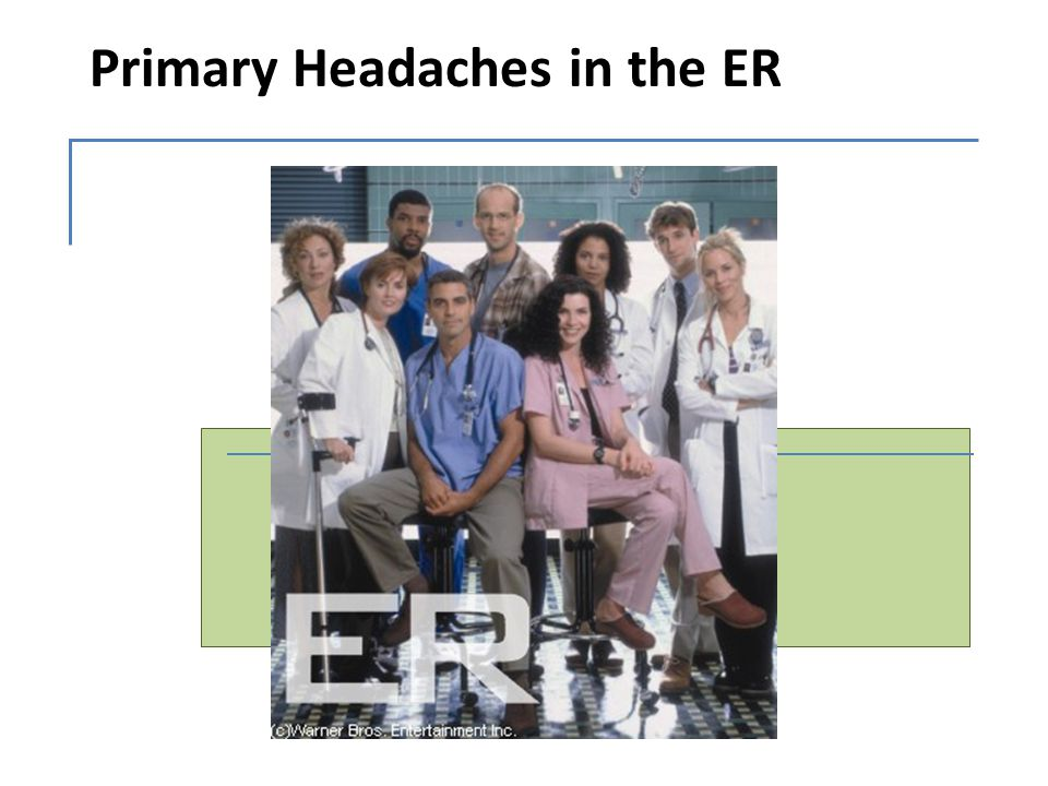 Primary Headaches in the ER