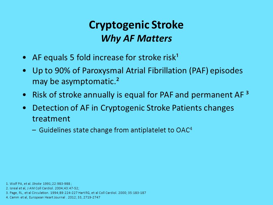 Cryptogenic Stroke Why AF Matters