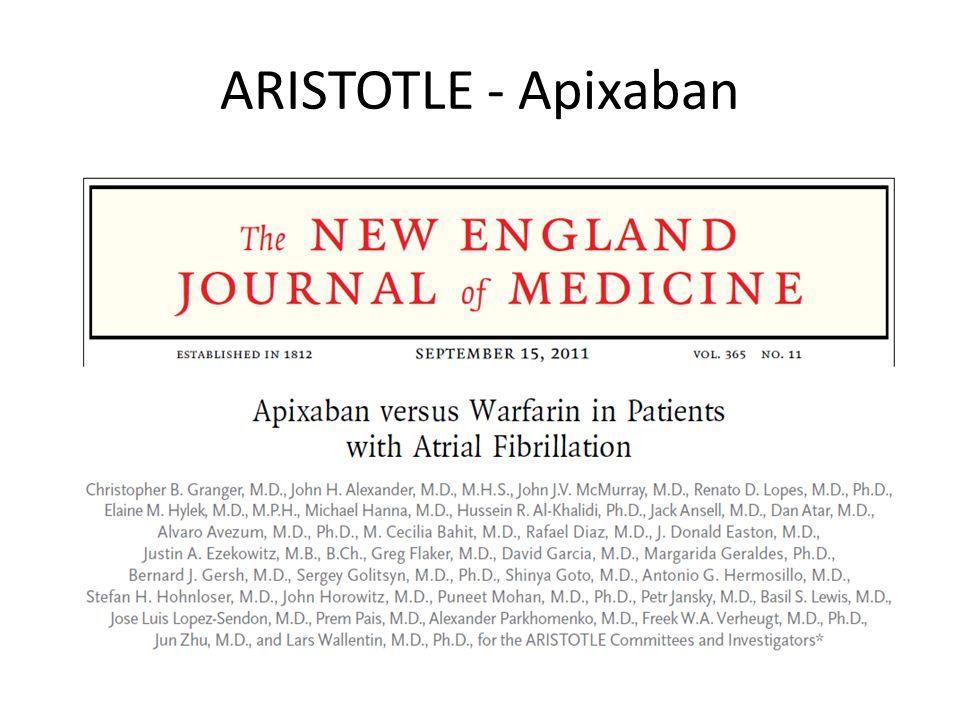 ARISTOTLE - Apixaban
