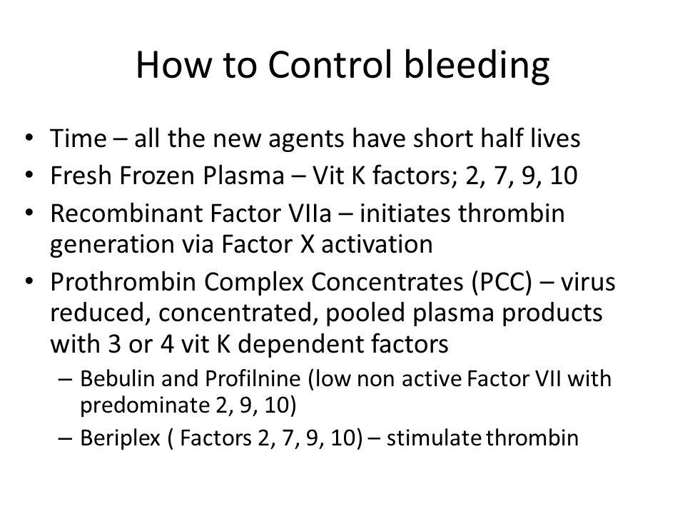 How to Control bleeding
