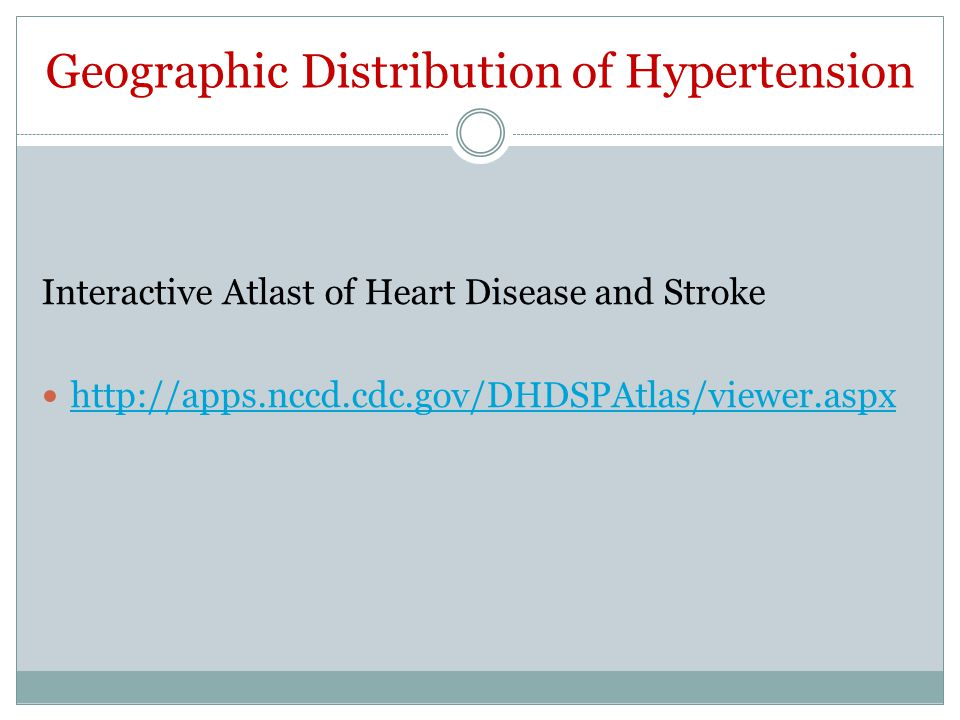 Geographic Distribution of Hypertension