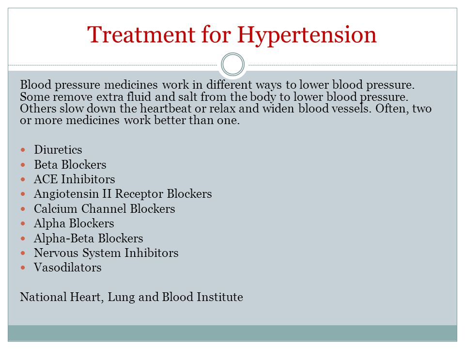 Treatment for Hypertension