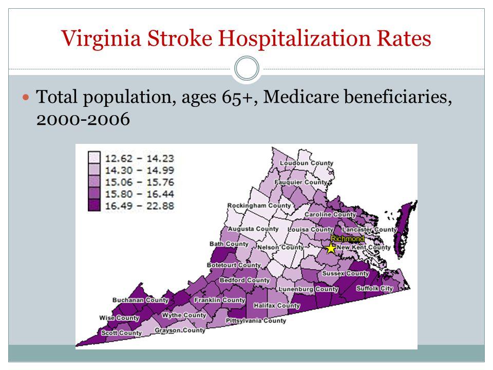 Virginia Stroke Hospitalization Rates
