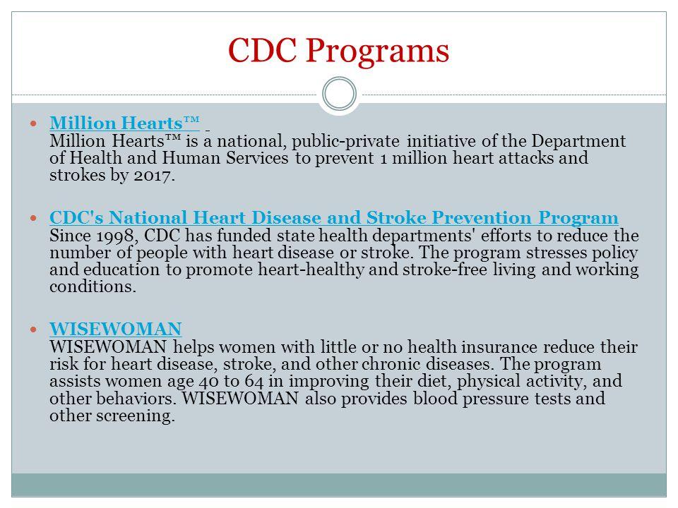 CDC Programs