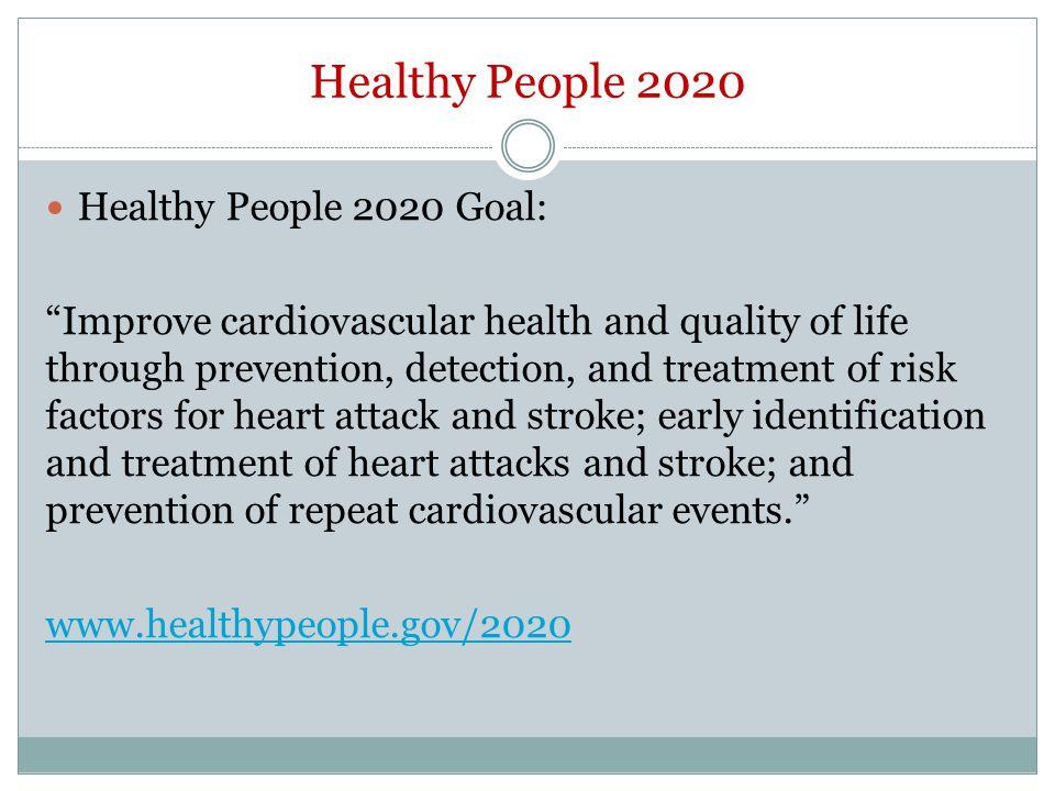 Healthy People 2020 Healthy People 2020 Goal: