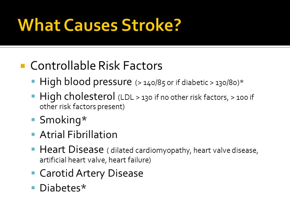 What Causes Stroke Controllable Risk Factors