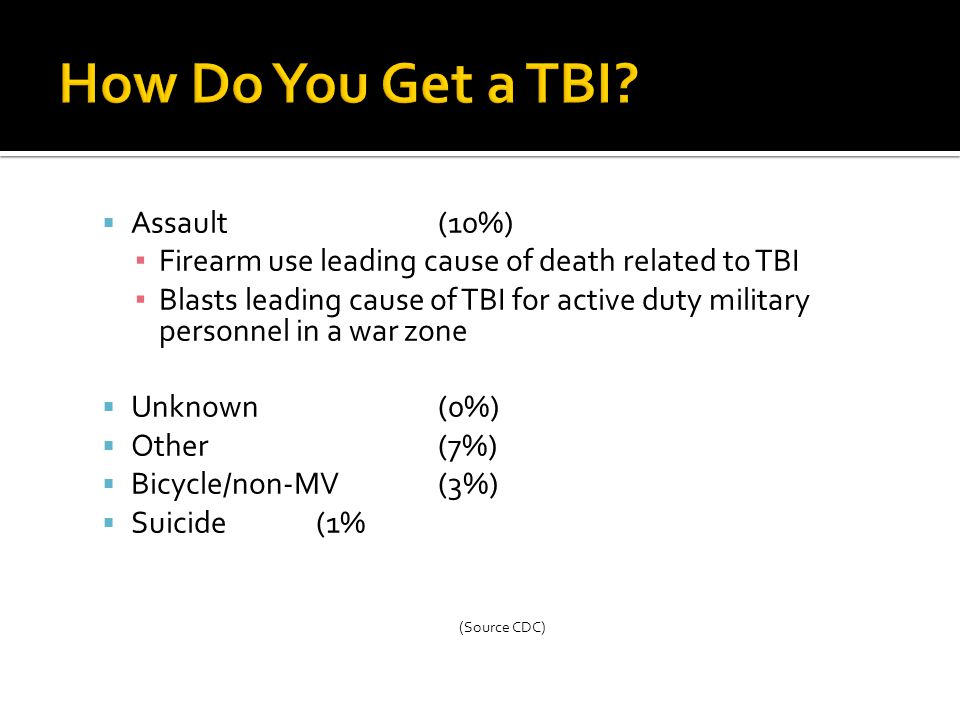 How Do You Get a TBI Assault (10%)