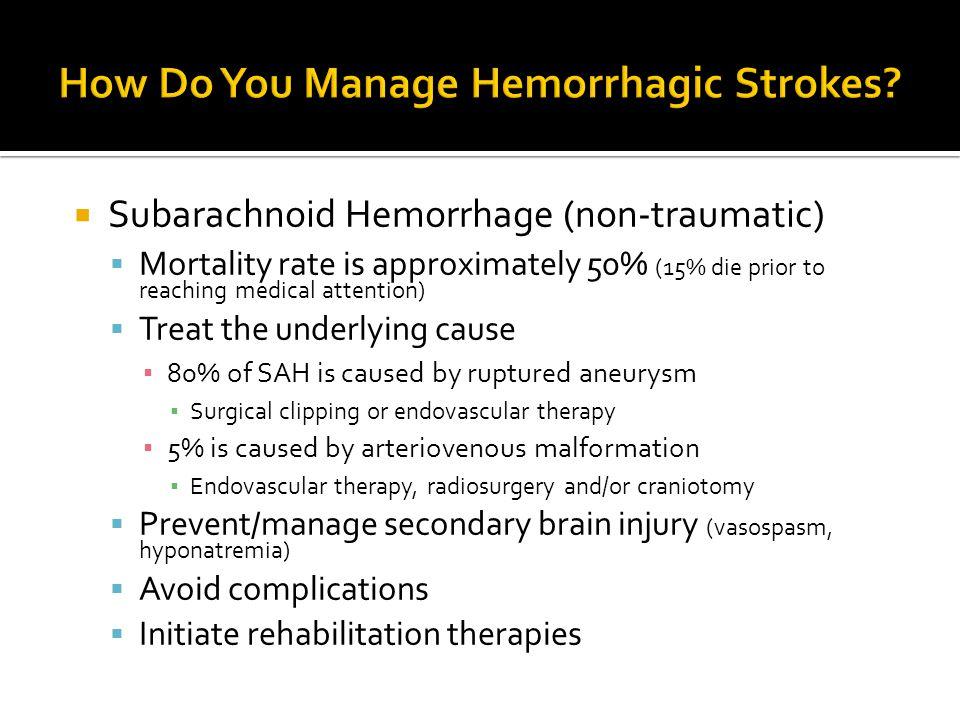 How Do You Manage Hemorrhagic Strokes