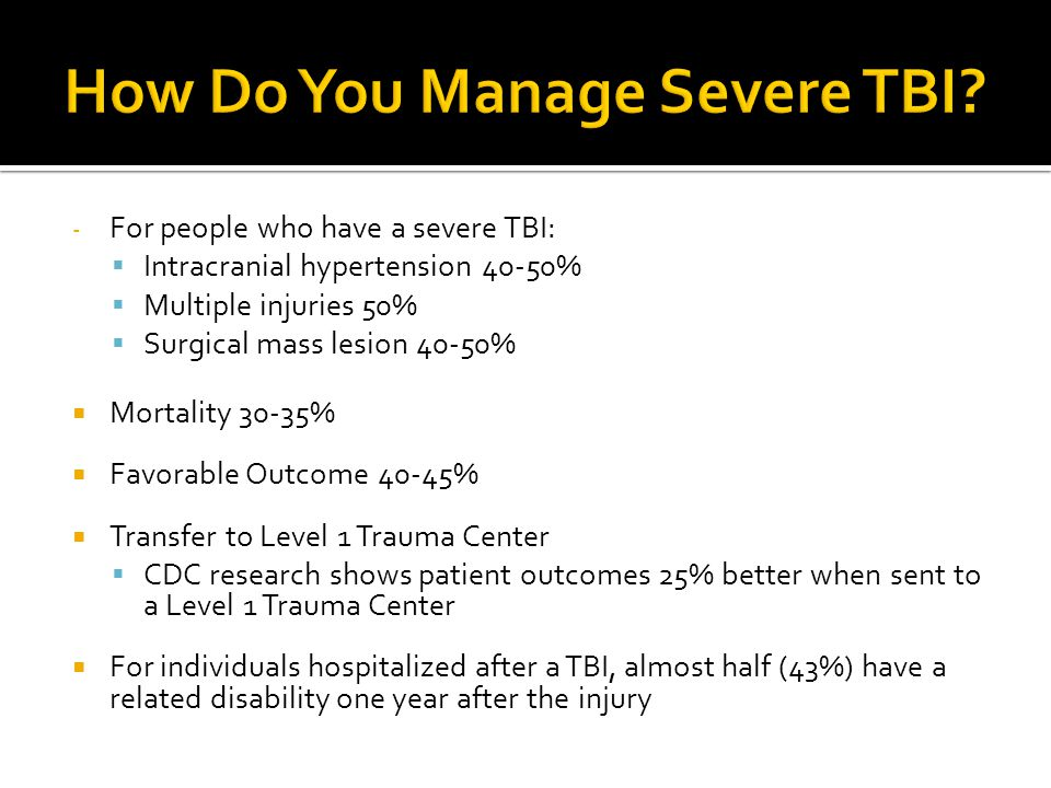 How Do You Manage Severe TBI