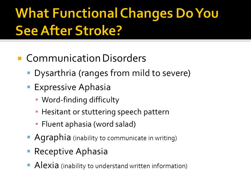 What Functional Changes Do You See After Stroke