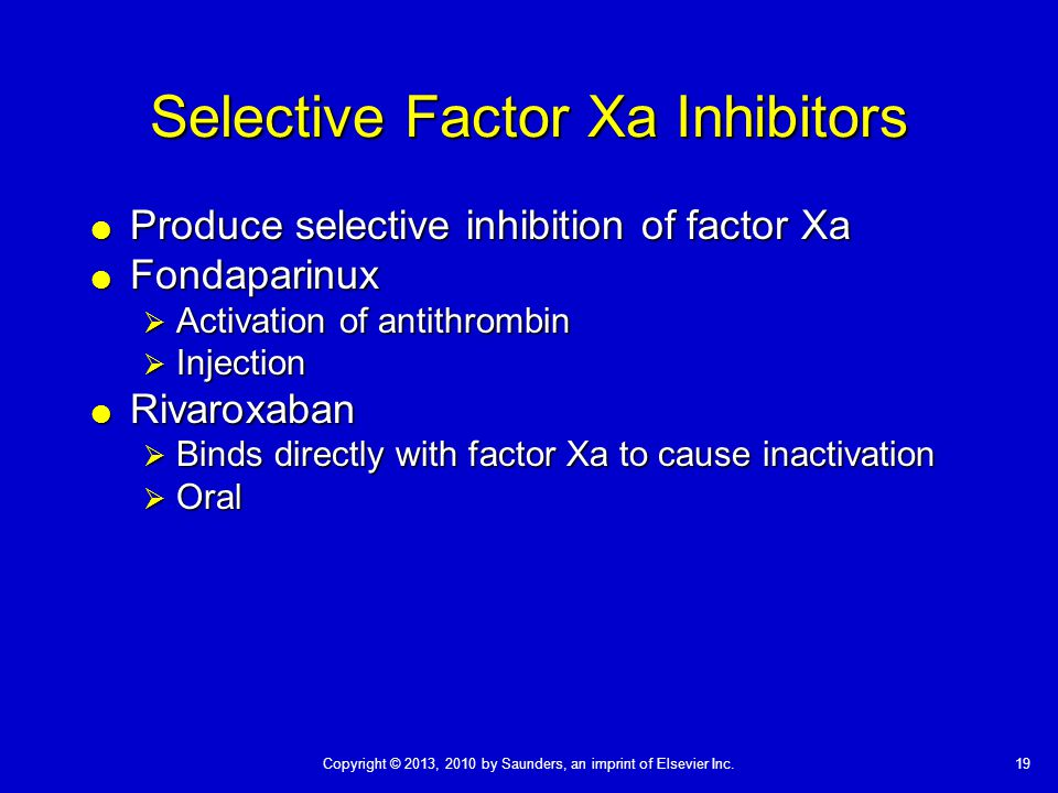 Selective Factor Xa Inhibitors