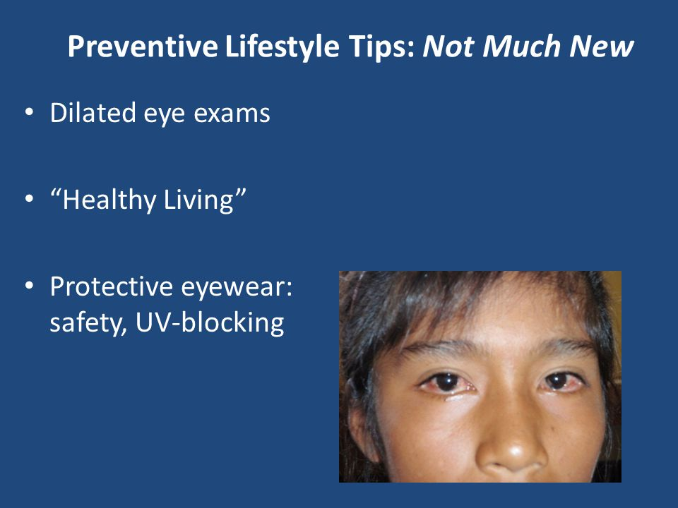 Preventive Lifestyle Tips: Not Much New