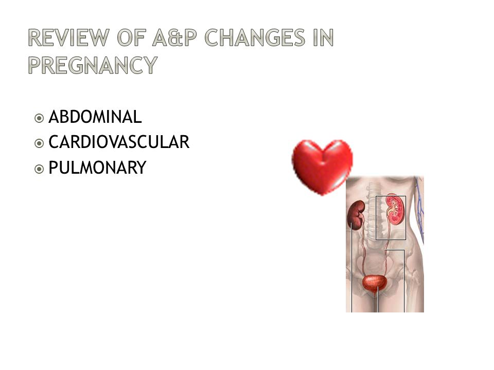 Review of A&P Changes in Pregnancy