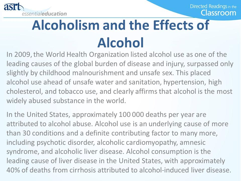 Alcoholism and the Effects of Alcohol