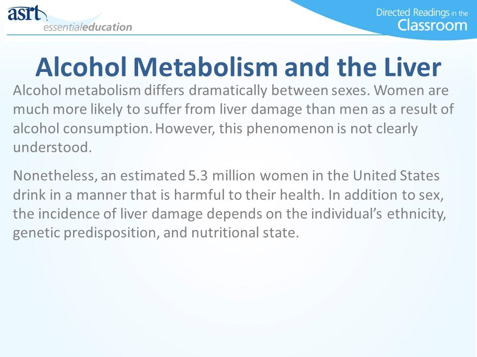 Alcohol Metabolism and the Liver