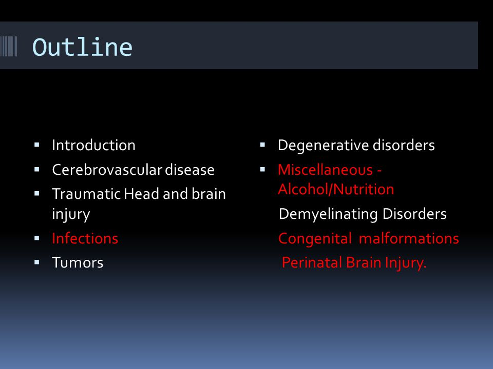 Outline Introduction Cerebrovascular disease