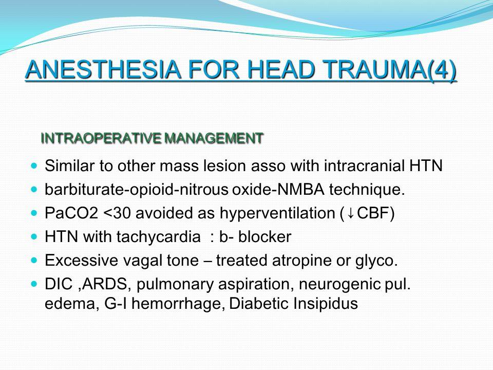 ANESTHESIA FOR HEAD TRAUMA(4)