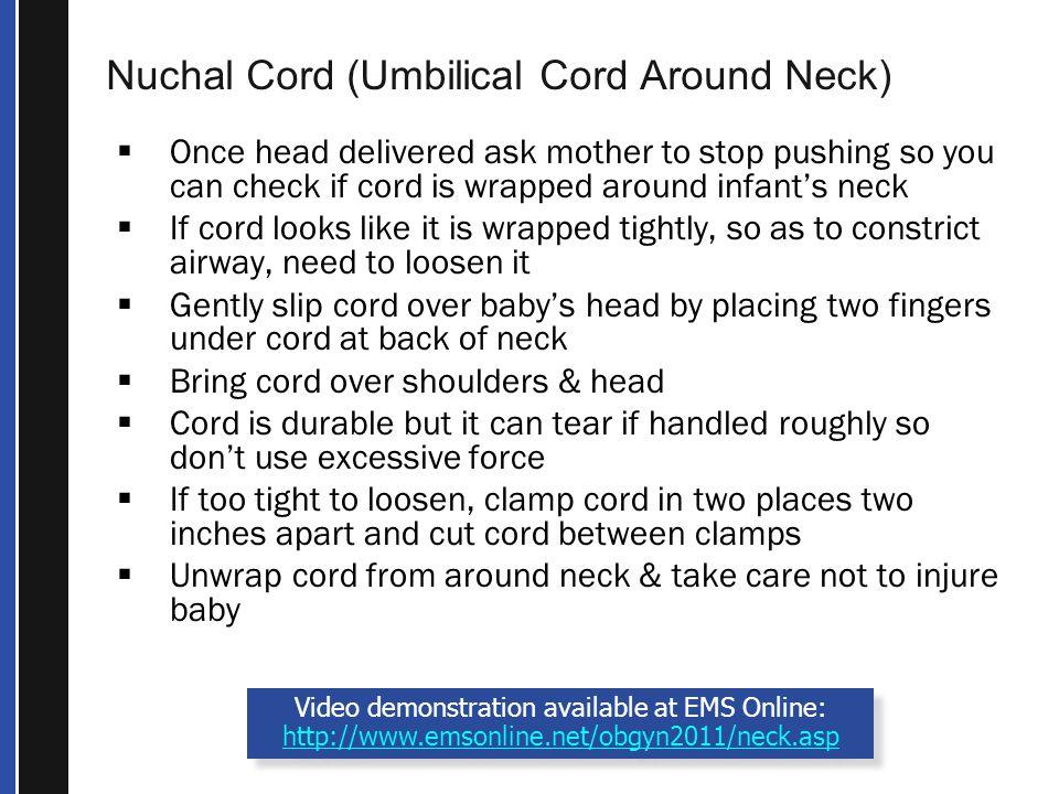 Nuchal Cord (Umbilical Cord Around Neck)